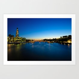 Sunset from Tower Bridge Art Print