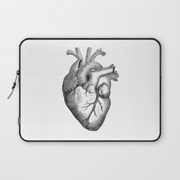 Real Anatomical Human Heart Drawing Laptop Sleeve