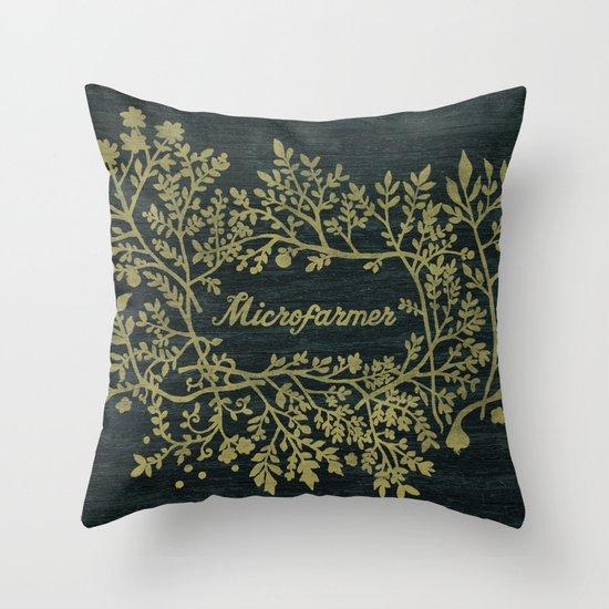 Microfarmer - Gold Throw Pillow