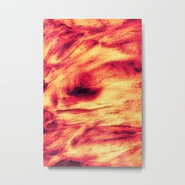 Fire Explosion Metal Print