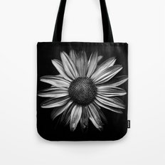 Backyard Flowers In Black And White 18 Tote Bag