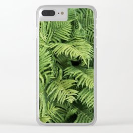 Fern Leaves Photography Clear iPhone Case