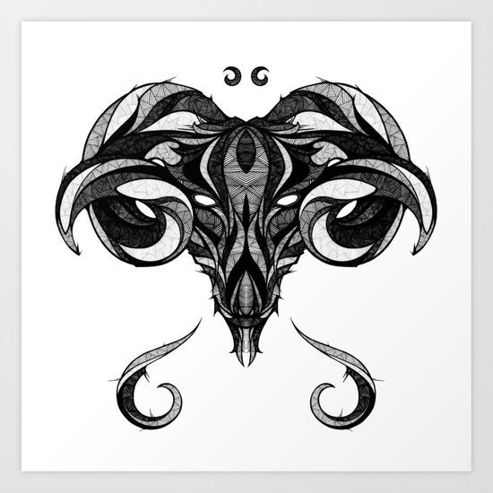 Signs of the Zodiac - Aries Art Print