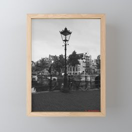 Lamp Post in Amsterdam Framed Mini Art Print
