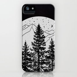 Night Time in the Forest iPhone Case