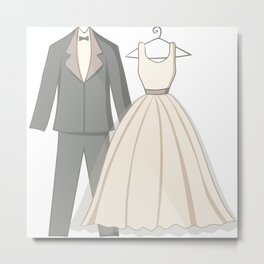 clothes of wedding couple Metal Print