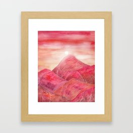 Lines in the mountains XXIII Framed Art Print
