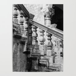 Sponza Palace Stairs Poster