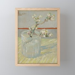 Sprig of Flowering Almond in a Glass Framed Mini Art Print