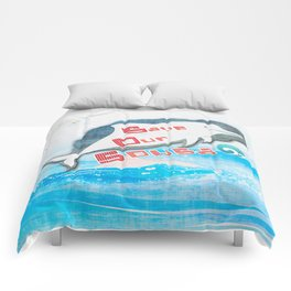 LOVE TAIWAN PINK DOLPHINS / SAVE TAIWAN PINK DOLPHINS Comforters