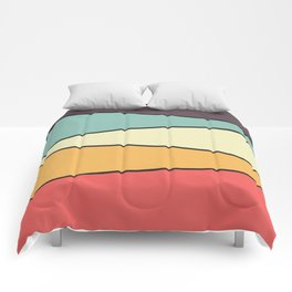 Abstract Graphic Design Pastel Comforters