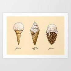 Ice Cream Cones Art Print