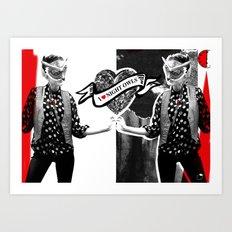 I ❤ NIGHT OWLS Art Print