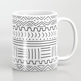 Mud Cloth on White Coffee Mug
