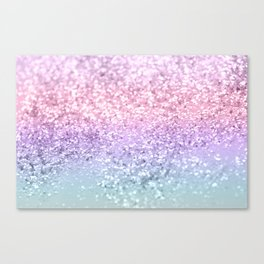 Unicorn Girls Glitter #1 #shiny #pastel #decor #art #society6 Canvas Print