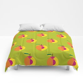 Fruit: Peach Comforters