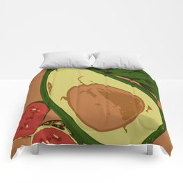 Avocado and guavas Comforters