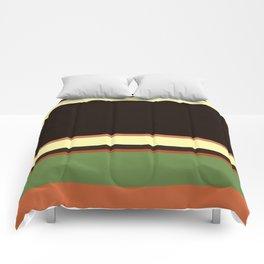 Plain color layer cake pop art print Comforters