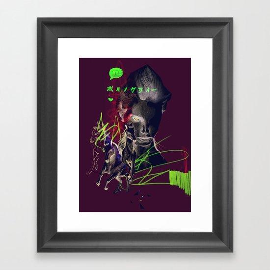 Running with horses Framed Art Print