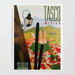 Vintage Tasco Mexico Travel Poster