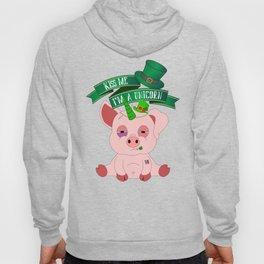St Patrick's Day Kiss Me I'm A Unicorn Pig Hoody