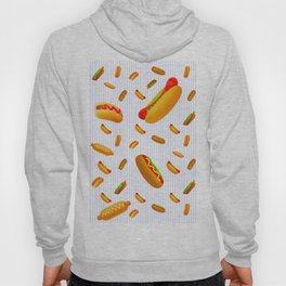 Hot Dog Pattern With Pinstripes Hoody