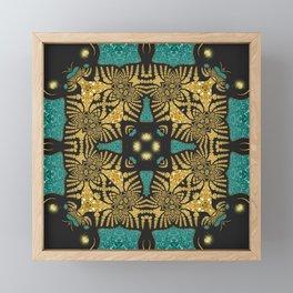 Animalia Batik Sparkle Framed Mini Art Print