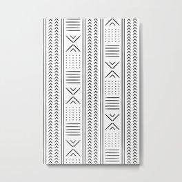 mud cloth in black and white Metal Print