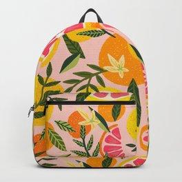 Grapefruit Blooms – Blush Backpack