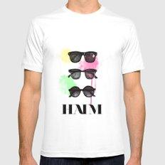 Haim (colour version) White MEDIUM Mens Fitted Tee