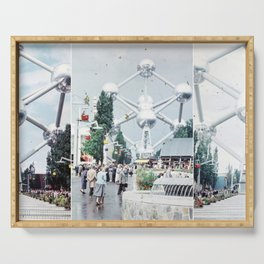 Brussels Atomium Photo Collage Serving Tray
