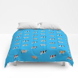 Dairy Breeds // Sky Blue Comforters