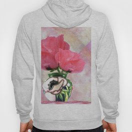 Background Texture Structure poppies Hoody