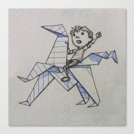 Doodle Boy Canvas Print