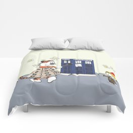 Playing Doctor and Daleks Comforters