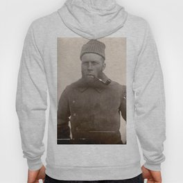 Bearded Ship Captain with Pipe - Vintage Photo Hoody