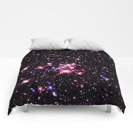 Quintuplet Cluster Pink Coral Violet Comforters
