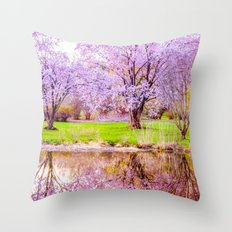 Spring at Arnold Arboretum Throw Pillow