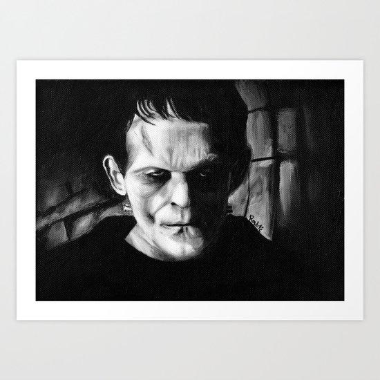 THE MONSTER of FRANKENSTEIN - Boris Karloff Art Print