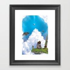 Flying Castle Framed Art Print