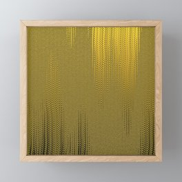 Golden Fabric Image. Framed Mini Art Print