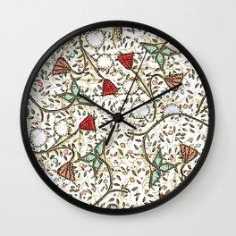 Medieval bird in brown Wall Clock