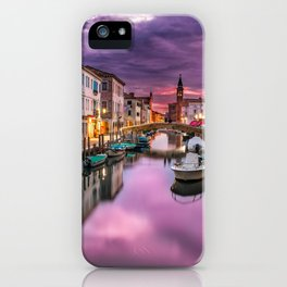 Venice Italy Canal at Sunset Photograph iPhone Case