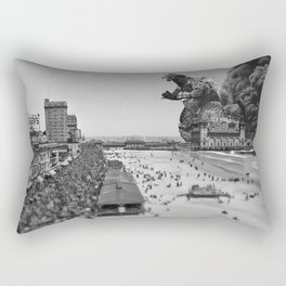 Old Time Godzilla in Atlantic City Rectangular Pillow
