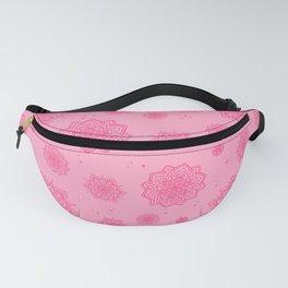 Feathered Mandala Pattern - Pink Fanny Pack