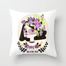 Day of the Beautiful Dead  Throw Pillow