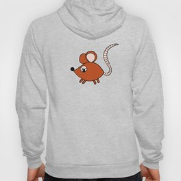 Drawn by hand a Friendly little mouse for children and adults Hoody