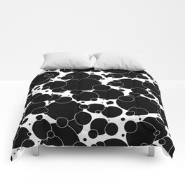 Black And White Pop 1 Comforters