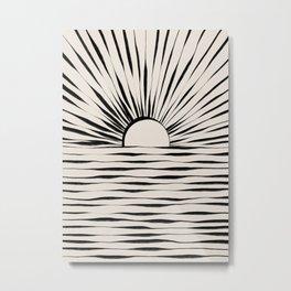 Minimal Sunrise / Sunset Metal Print