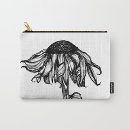 Wilted Flower Ink Drawing Carry-All Pouch